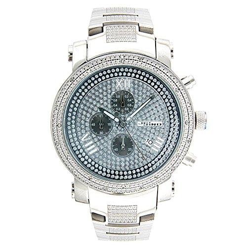 Jojino Nevada mj 1098 53 70 mm rund Herren Diamant Uhr weiss