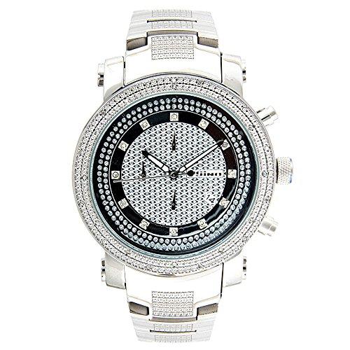 Jojino Nevada mj 1101 53 70 mm rund Herren Diamant Uhr weiss