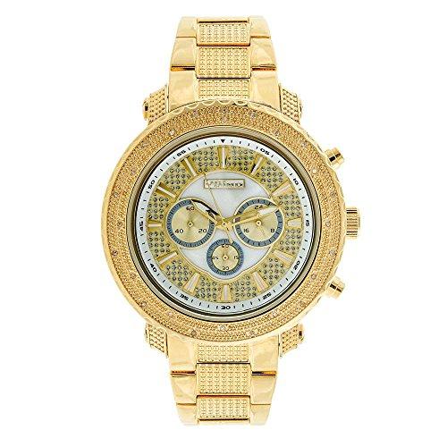 Jojino Norwegen mj 1211 55 45 mm Rund Herren Diamant Uhr gelb