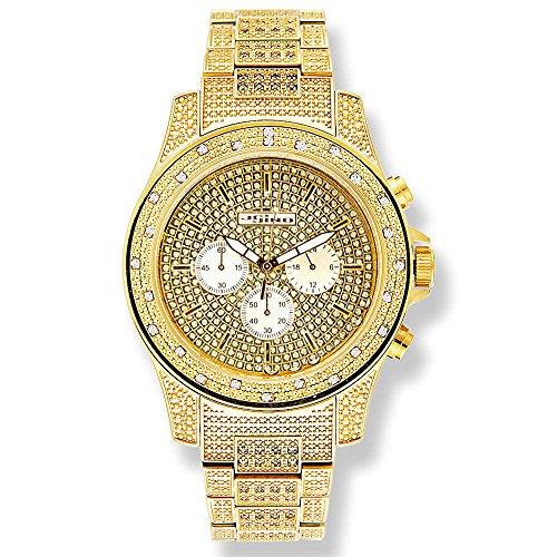 Jojino Ontario mj 1006 50 60 mm Rund Herren Diamant Uhr gelb