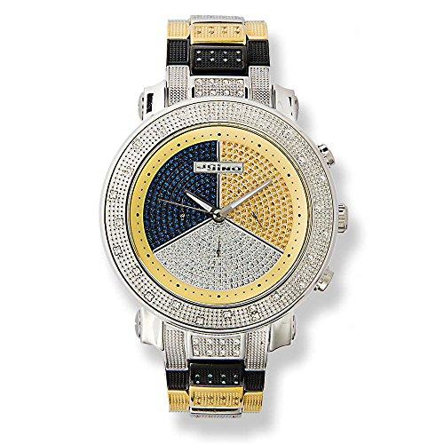 Jojino Theiss ij 1022 50 50 mm rund Herren Diamant Uhr weiss