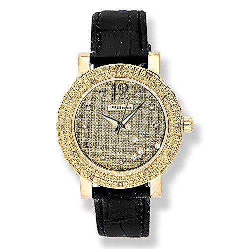Jojino Sabrina mj 1047 42 50 mm Rund Frau Diamant Armbanduhr gelb