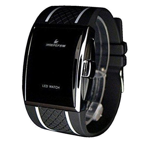 BYD LED Watch Unisex Uhren Watch Silikongel Weiss Digitals Quarzwerk Digital