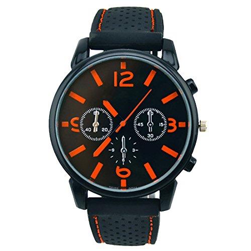 BYD Herren Uhren Watch Silikongel Mehrfarbig Analoges Quarzwerk Analog