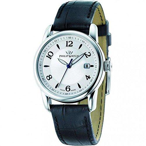 Armbanduhr PHILIP WATCH Kent kentlady r8251178503 Quarz Stahl Quandrante Silber Armband Leder