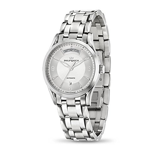 Armbanduhr PHILIP WATCH Sunray R8223180001 Schalter Stahl Quandrante Silber Armband Stahl
