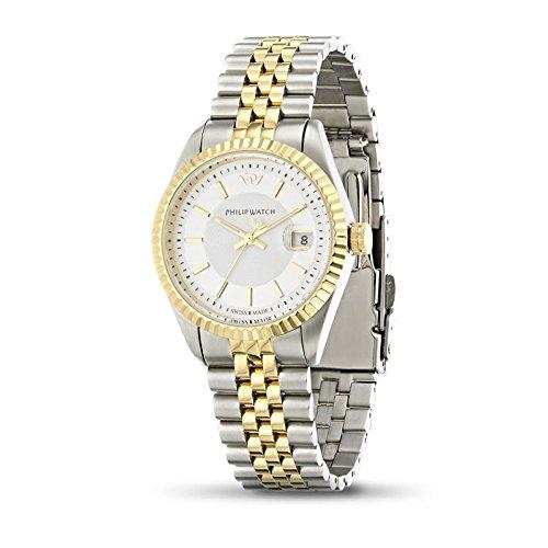Armbanduhr PHILIP WATCH Caribe r8253107509 Quarz Batterie Stahl Quandrante Silber Armband Stahl