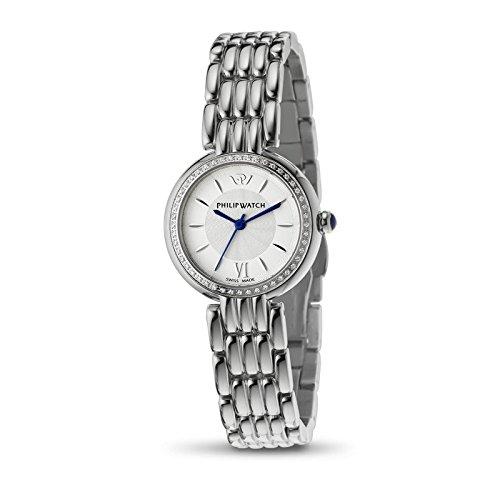 Armbanduhr PHILIP WATCH genf R8253491507 Quarz Batterie Stahl Quandrante Silber Armband Stahl