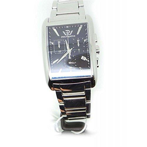 Armbanduhr PHILIP WATCH Trafalgar R8273674002 Quarz Batterie Stahl Quandrante schwarz Armband Stahl