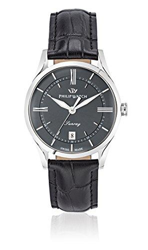 Philip Watch beweger collection SUNRAY Leder schwarz R8251180007