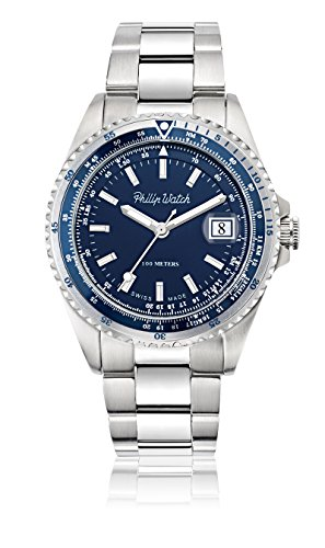 Philip Watch beweger collection CARIBE Edelstahl silber R8253597020