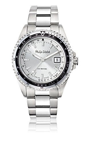 Philip Watch beweger collection CARIBE Edelstahl silber R8253597021