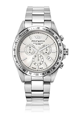 Philip Watch beweger collection CARIBE Edelstahl silber R8273607003