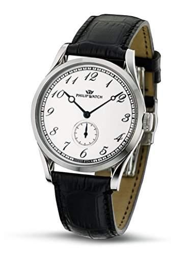 Philip Watch Herren-Armbanduhr SUNRAY Analog Quarz Leder R8211180045