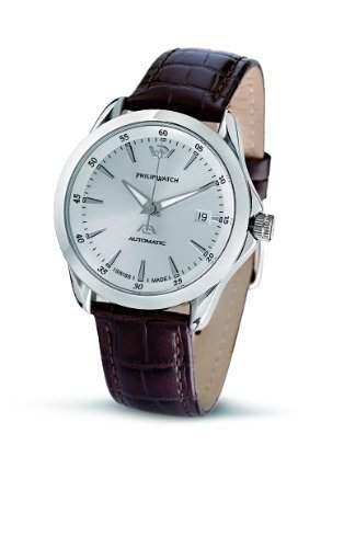 Philip Watch-R8221165145-Herrenuhr-mechanische Analog-Armband Leder braun