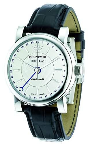 Philip Watch Herren-Armbanduhr WALES Analog Quarz Leder R8221193003