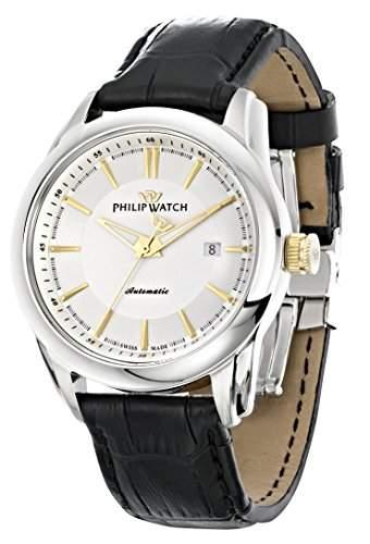 Philip Watch Herren-Armbanduhr SEAHORSE Lernuhr Automatik Leder R8221196001