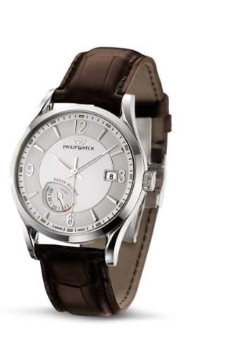 Philip Watch Herren-Armbanduhr SUNRAY Analog Quarz Leder R8221680315