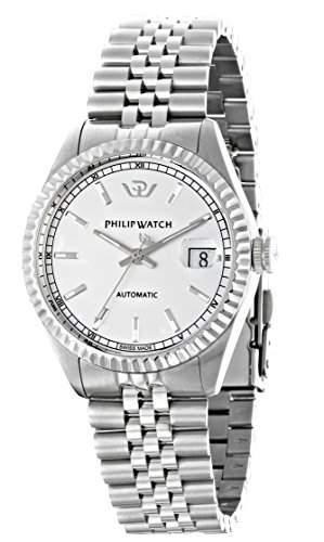 Philip Watch Herren-Armbanduhr CARIBE Lernuhr Automatik Edelstahl R8223597009