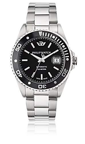 Philip Watch Herren-Armbanduhr CARIBE Lernuhr Automatik Edelstahl R8223597010