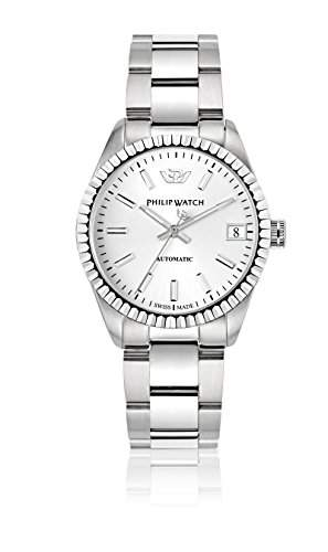 Philip Watch Damen-Armbanduhr CARIBE Lernuhr Automatik Edelstahl R8223597501