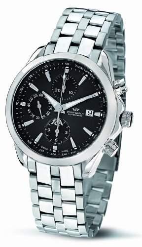 Philip Watch Herren-Armbanduhr BLAZE Chronograph Quarz Edelstahl R8243995125
