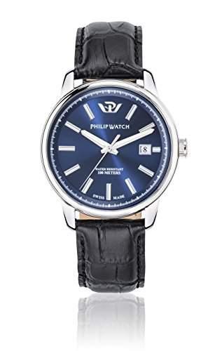 Philip Watch Herren-Armbanduhr KENT Analog Quarz Leder R8251178008