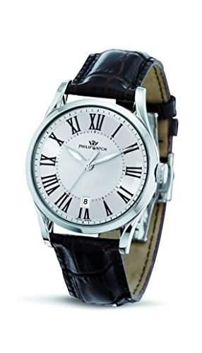 Philip Watch Herren-Armbanduhr SUNRAY Analog Quarz Leder R8251180003
