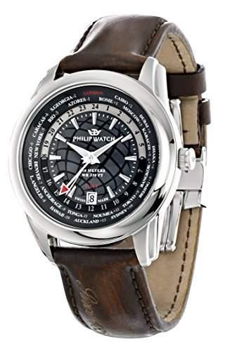 Philip Watch Herren-Armbanduhr SEAHORSE Analog Quarz Leder R8251196006