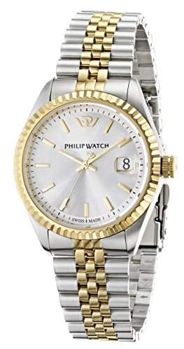 Philip Watch Herren-Armbanduhr CARIBE Analog Quarz Edelstahl R8253107010