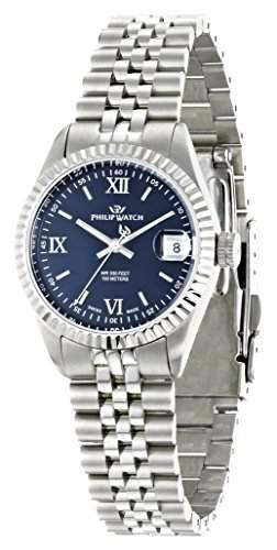 Philip Watch Damen-Armbanduhr CARIBE Analog Quarz Edelstahl R8253107505