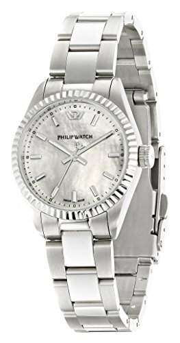 Philip Watch Damen-Armbanduhr CARIBE Analog Quarz Edelstahl R8253107508