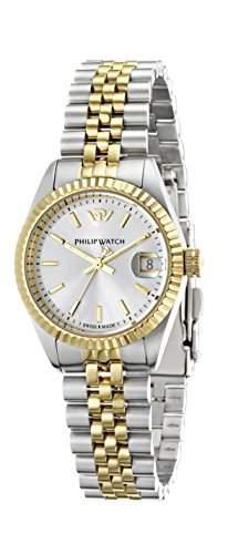 Philip Watch Damen-Armbanduhr CARIBE Analog Quarz Edelstahl R8253107515