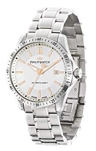 Philip Watch Herren-Armbanduhr BLAZE Analog Quarz Edelstahl R8253165003