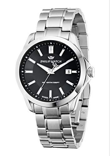 Philip Watch Herren-Armbanduhr BLAZE Analog Quarz Edelstahl R8253165004