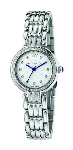 Philip Watch Damen-Armbanduhr GINEVRA Analog Quarz Edelstahl R8253491504
