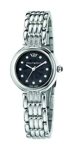 Philip Watch Damen-Armbanduhr GINEVRA Analog Quarz Edelstahl R8253491506