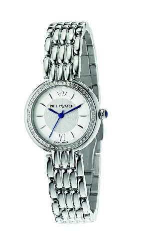 Philip Watch Damen-Armbanduhr GINEVRA Analog Quarz Edelstahl R8253491507