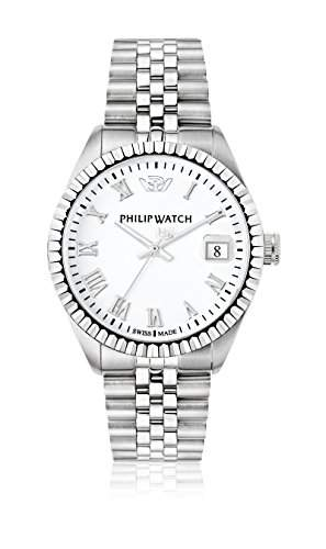 Philip Watch Herren-Armbanduhr CARIBE Analog Quarz Edelstahl R8253597022