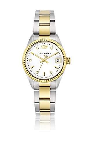 Philip Watch Damen-Armbanduhr CARIBE Analog Quarz Edelstahl R8253597514