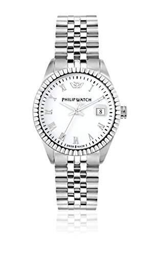 Philip Watch Damen-Armbanduhr CARIBE Analog Quarz Edelstahl R8253597515