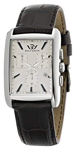 Philip Watch Herren-Armbanduhr TRAFALGAR Chronograph Quarz Leder R8271674002