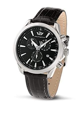 Philip Watch Herren-Armbanduhr BLAZE Chronograph Quarz Leder R8271995225