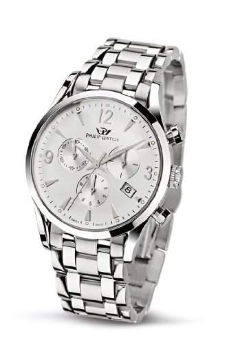 Philip Watch Herren-Armbanduhr SUNRAY Chronograph Quarz Edelstahl R8273908145