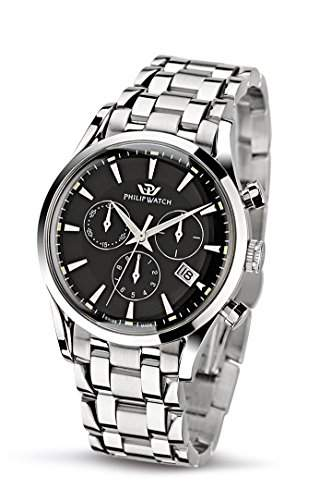 Philip Watch Herren-Armbanduhr SUNRAY Chronograph Quarz Edelstahl R8273908165