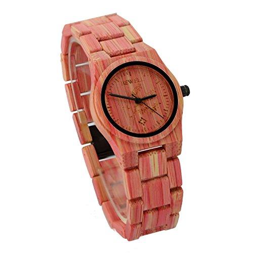ideashop Frauen Bambus Holz Armbanduhr Life wasserabweisend quartz watch Armbanduhren Cool Casual Uhren