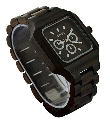 ideashop New Handarbeit Holz Armbanduhr Man Luxus Ziffernblatt Made Datum Zeit Monat Woche Holz Uhren Geschenk