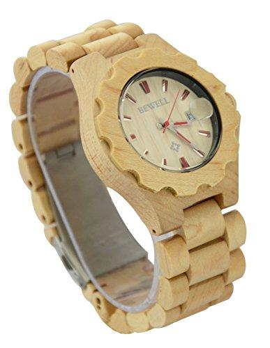ideashop Fashion Holz Quarz Uhren Herren Big Analog Datum Kalender ArmbandUhren luxruy Geschenk verstellbar