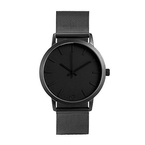 Gaxs Watches Jordan schwarz mit Mesh Edelstahl grau matt