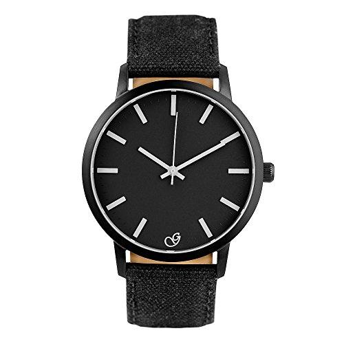 Gaxs Watches Jack K schwarz mit weissen Zeigern